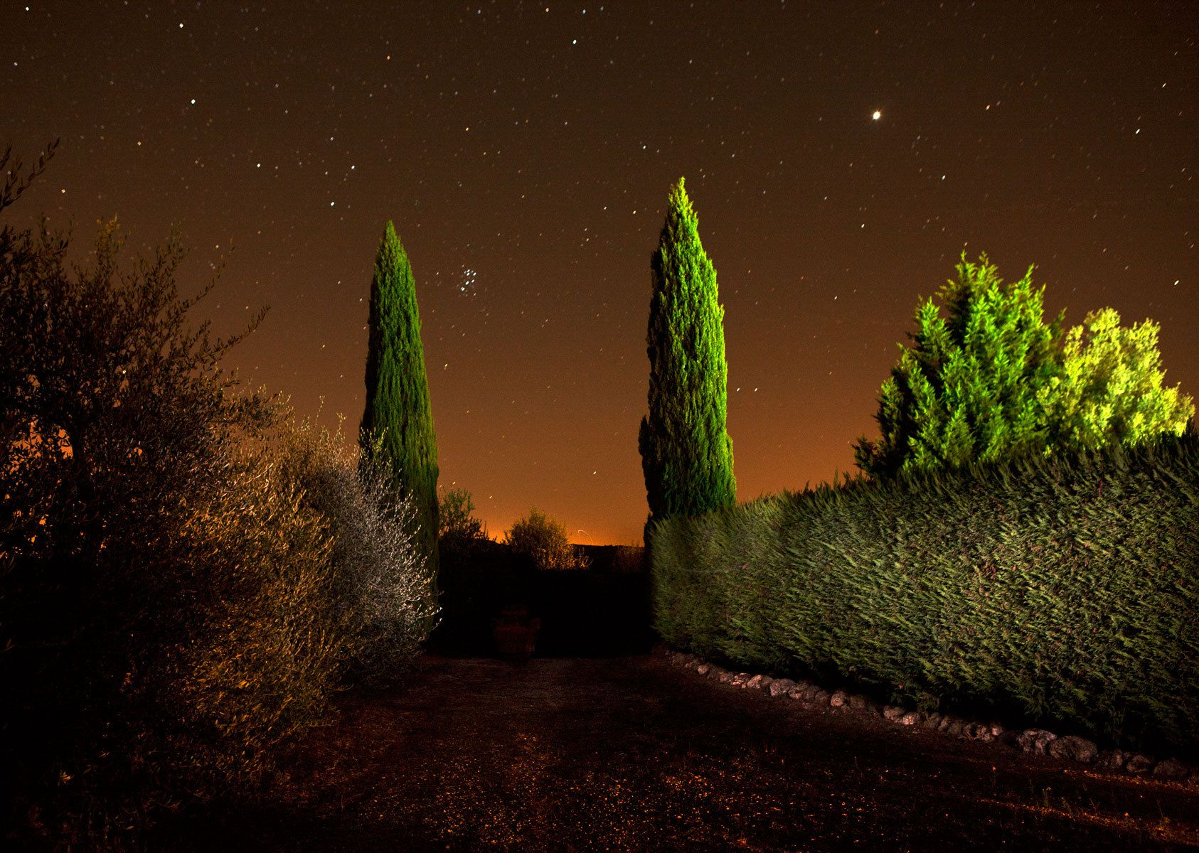 Tuscan Light Painting: Tuscany, Italy