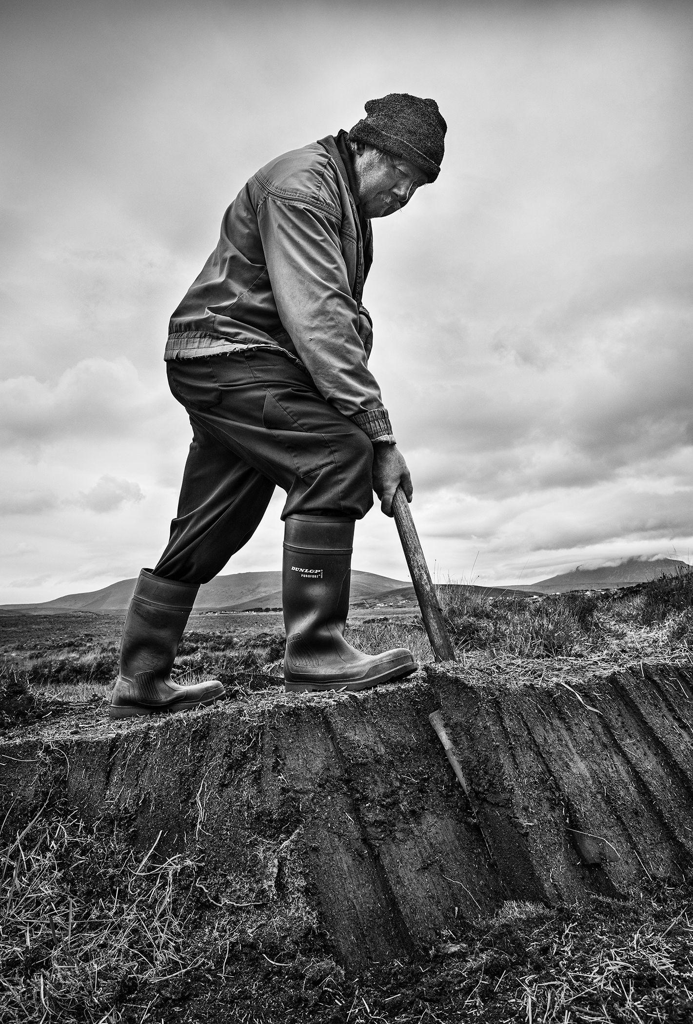 Lou Gogan, Turf Cutter, Achill Island,County Mayo.jpg