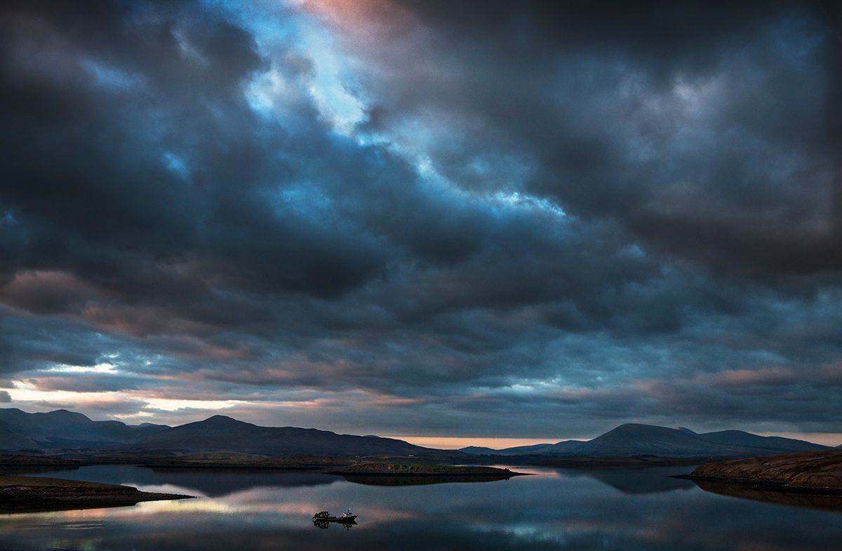 dusk, Clew Bay, County Mayo