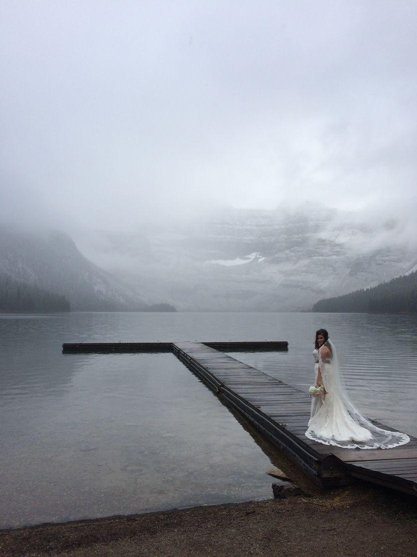 Waterfront wedding, Alberta, Canada.