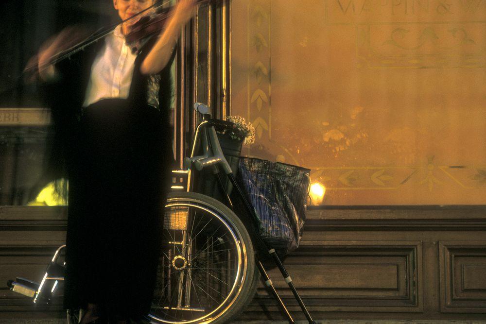 Disabled violinist.