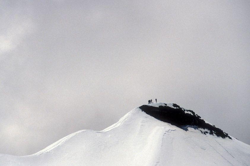 This summit no longer exists. Mount  Ruapehu,  New Zealand.