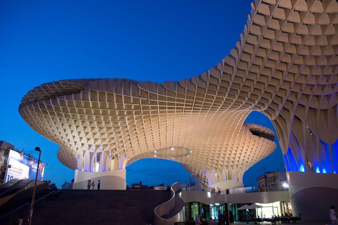 Parasol at night. Seville, Spain.