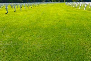 American Cemetery crosses.