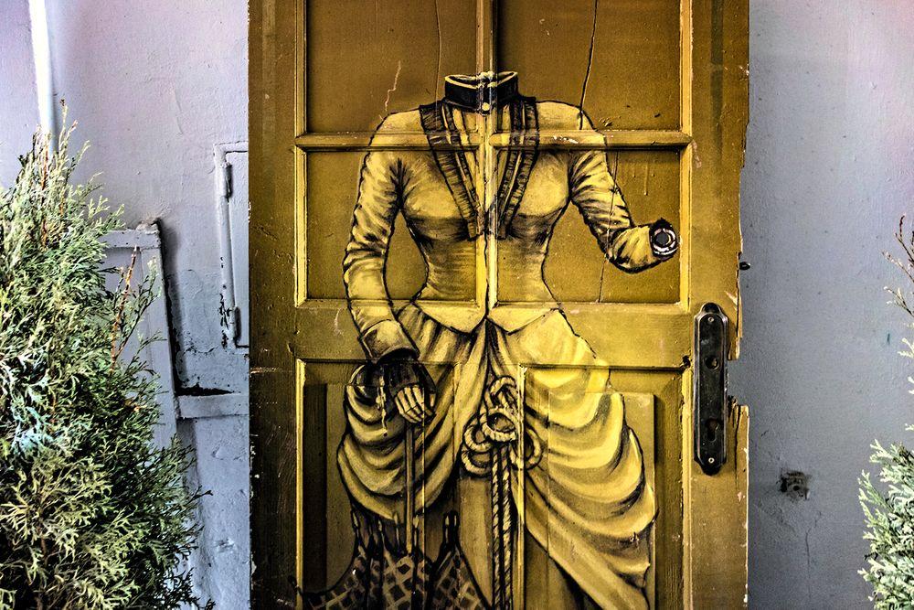 Discarded door.