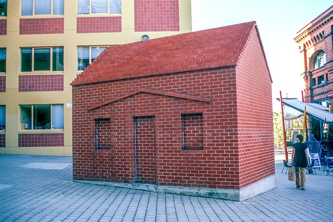 A real brick house.