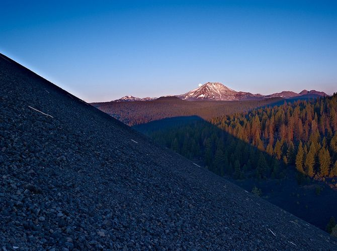 Angles: The Moon Sets Over Lassen