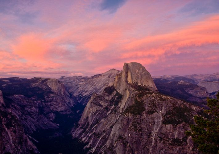 Sierra Sunset on Half Dome