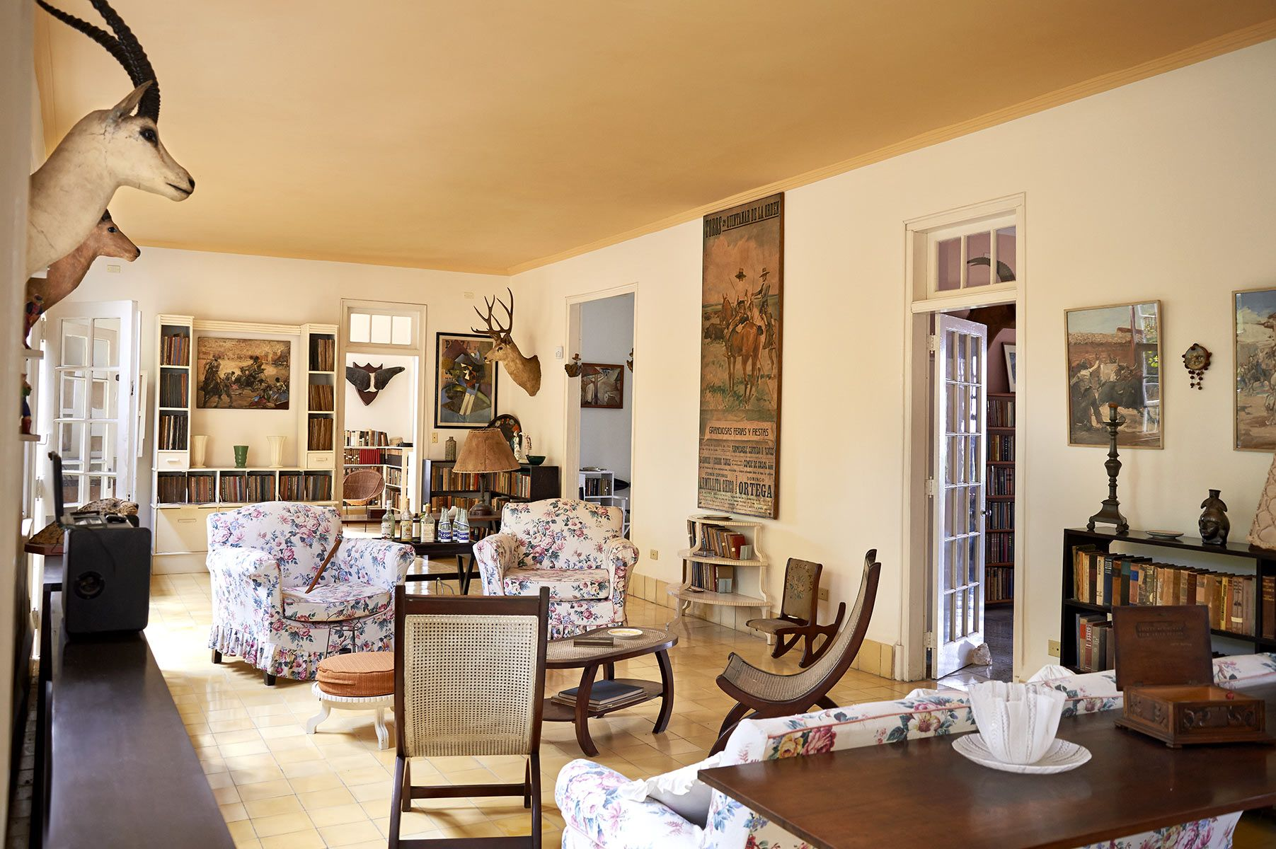 Hemingways's living room.FincaVigia,