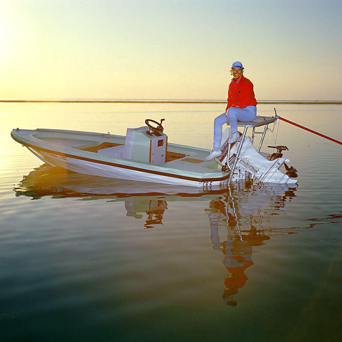 woman guide, woman fishing guide, flats guide,  Linda Drake, Key West, portrait