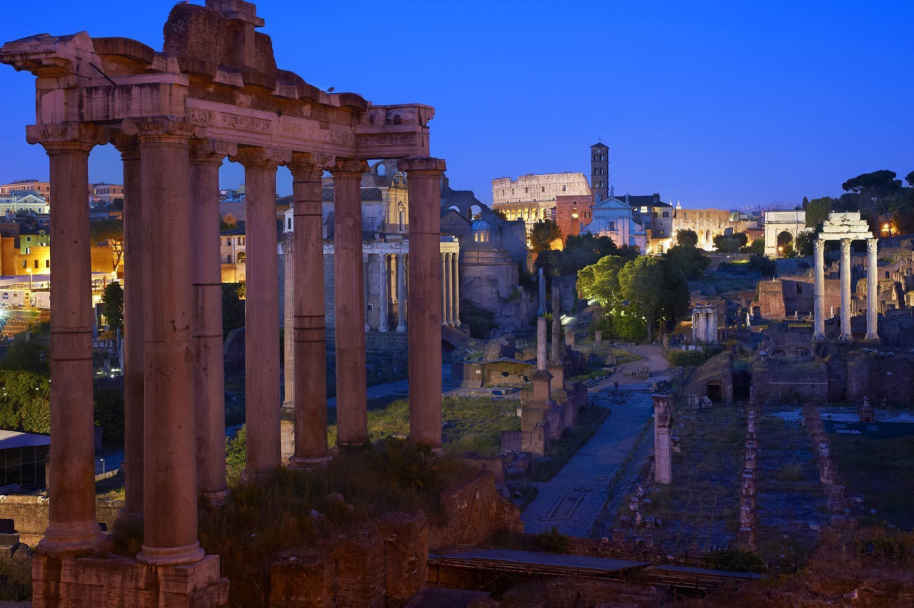The Temple of Saturn, Rome, Italy