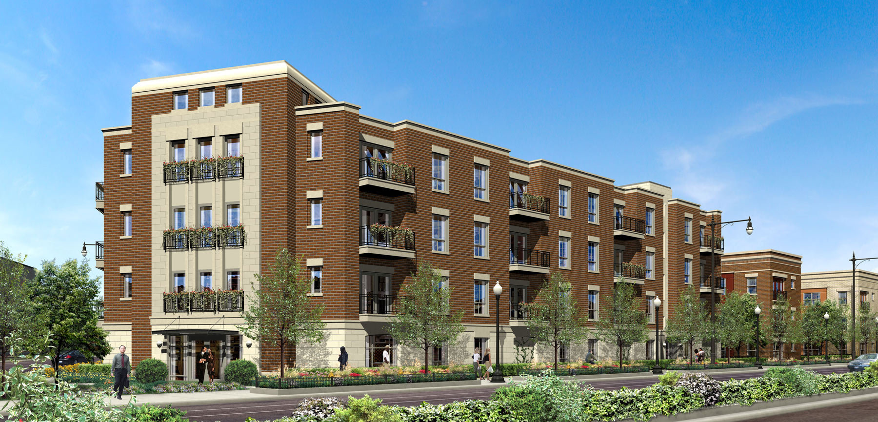 Four Story Condominiums in Chicago's Roosevelt Square - Senior Designer with DeStefano + Partners
