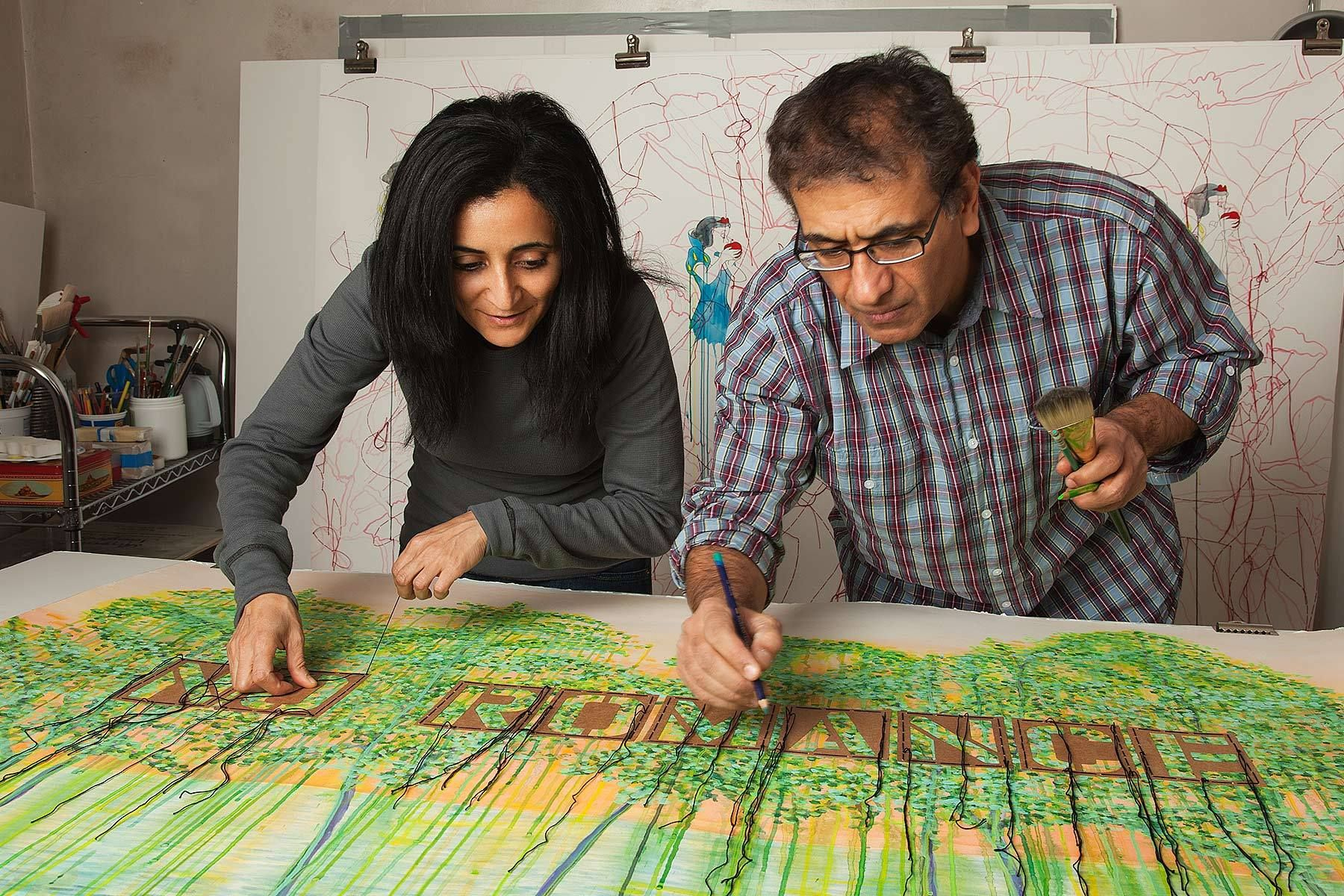 """Ghada Amer and Reza Farkhondeh for Goodman Gallery catalogue """"No Romance"""""""