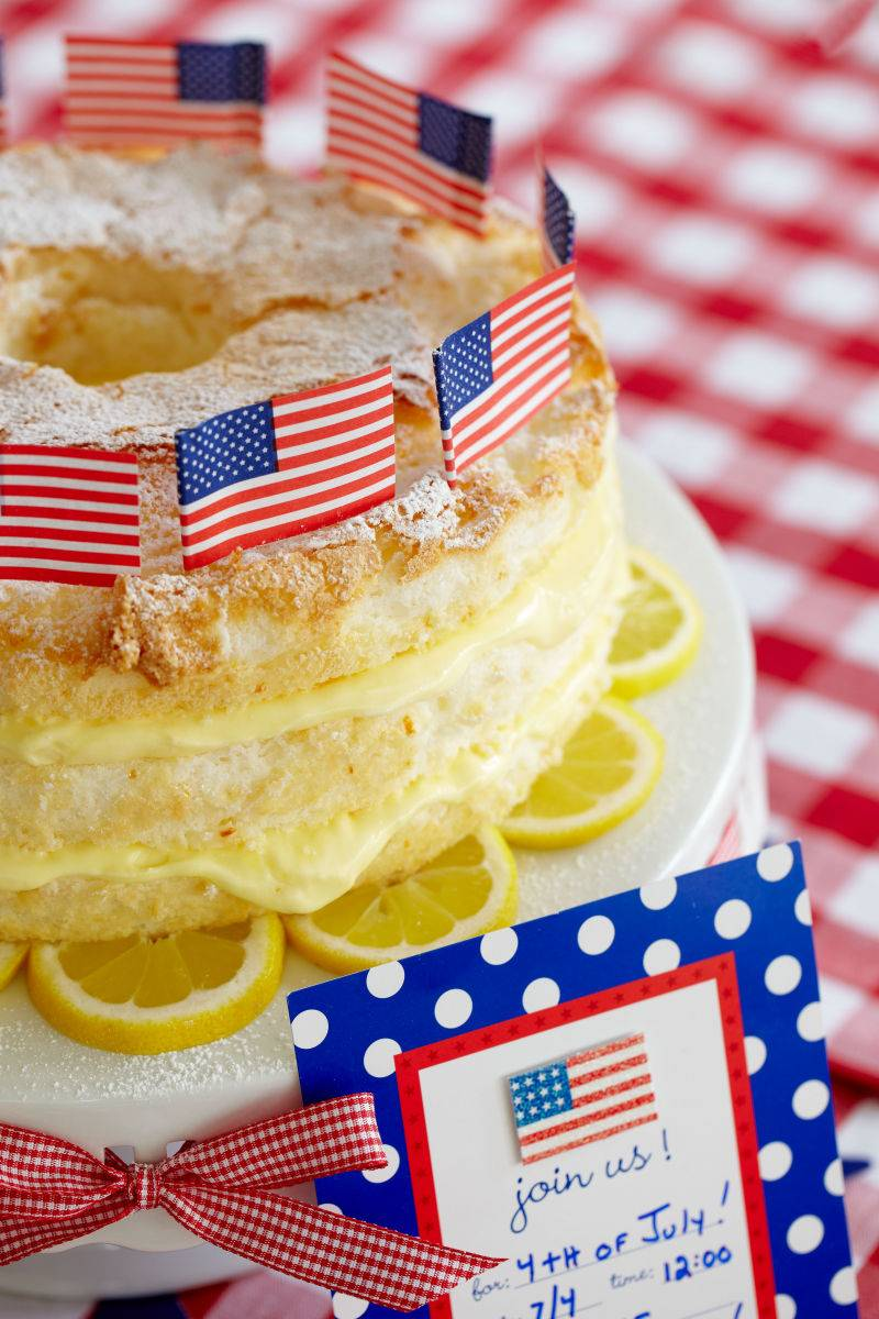 4th of July Lemon Cake