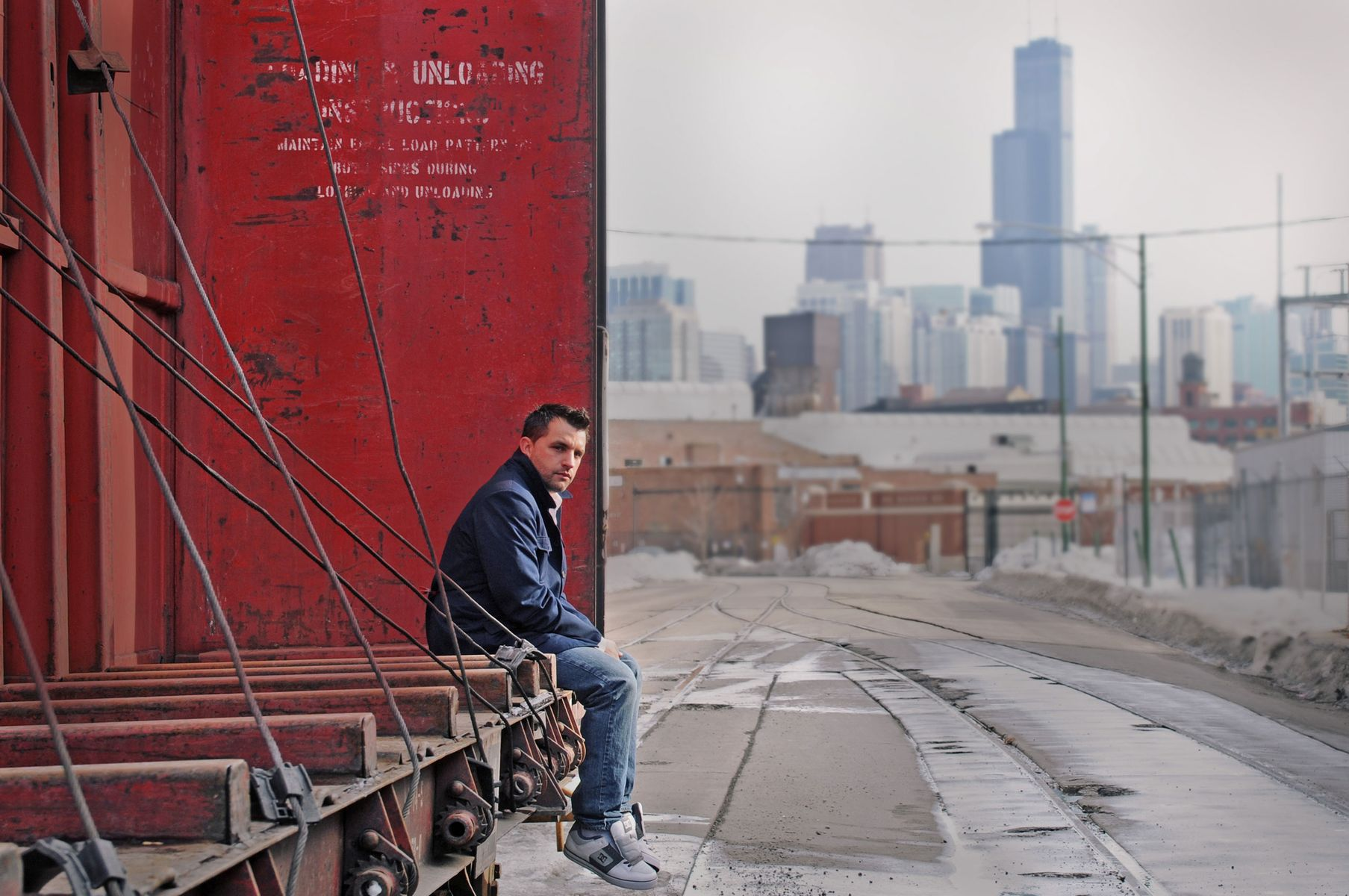 Album cover photo, Chicago musician Mic One