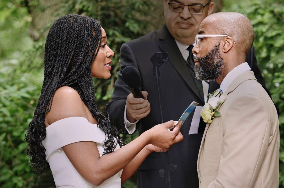 Wedding ceremony in Chicago