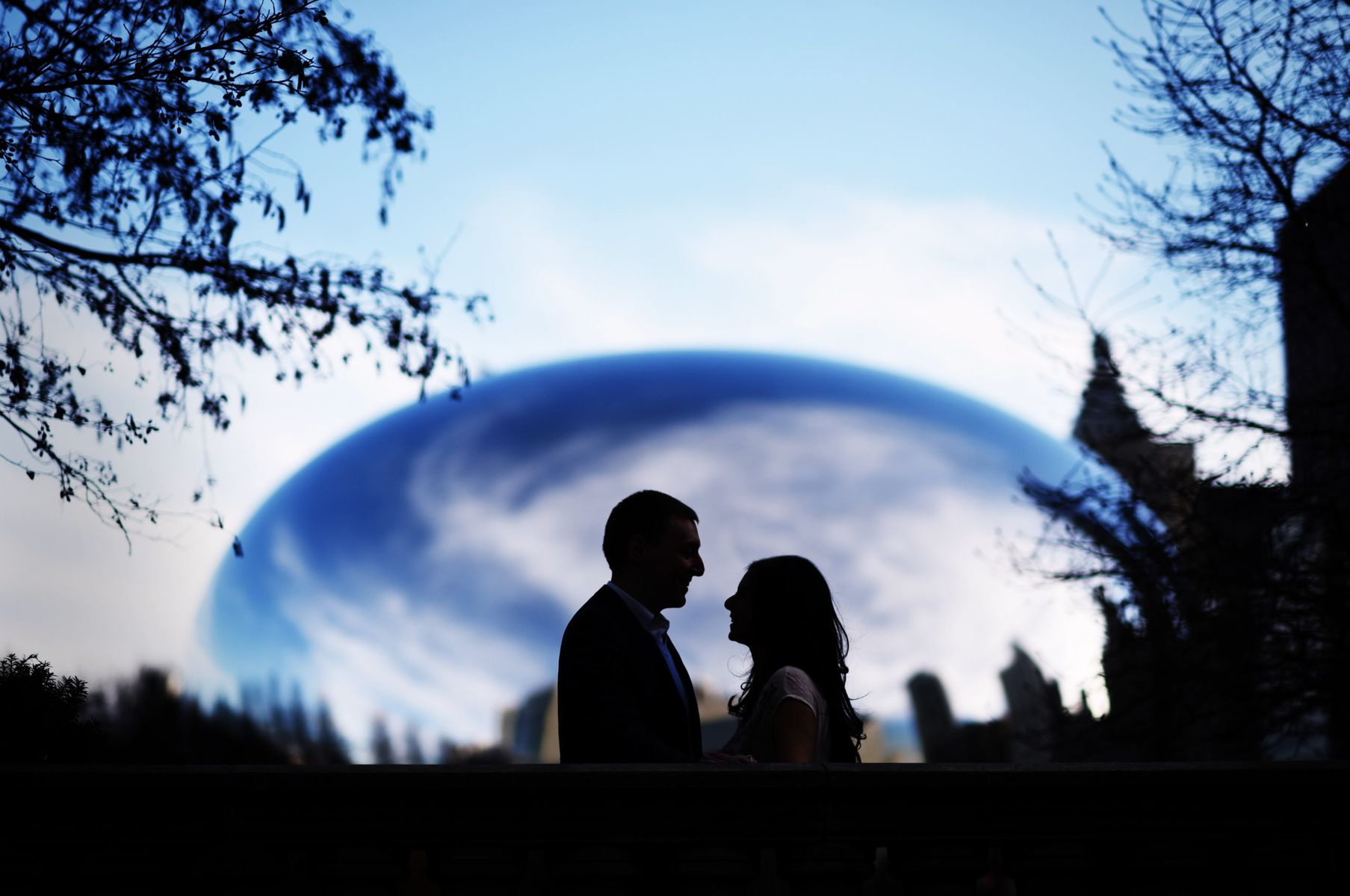 Engagement photos at Millennium park Chicago