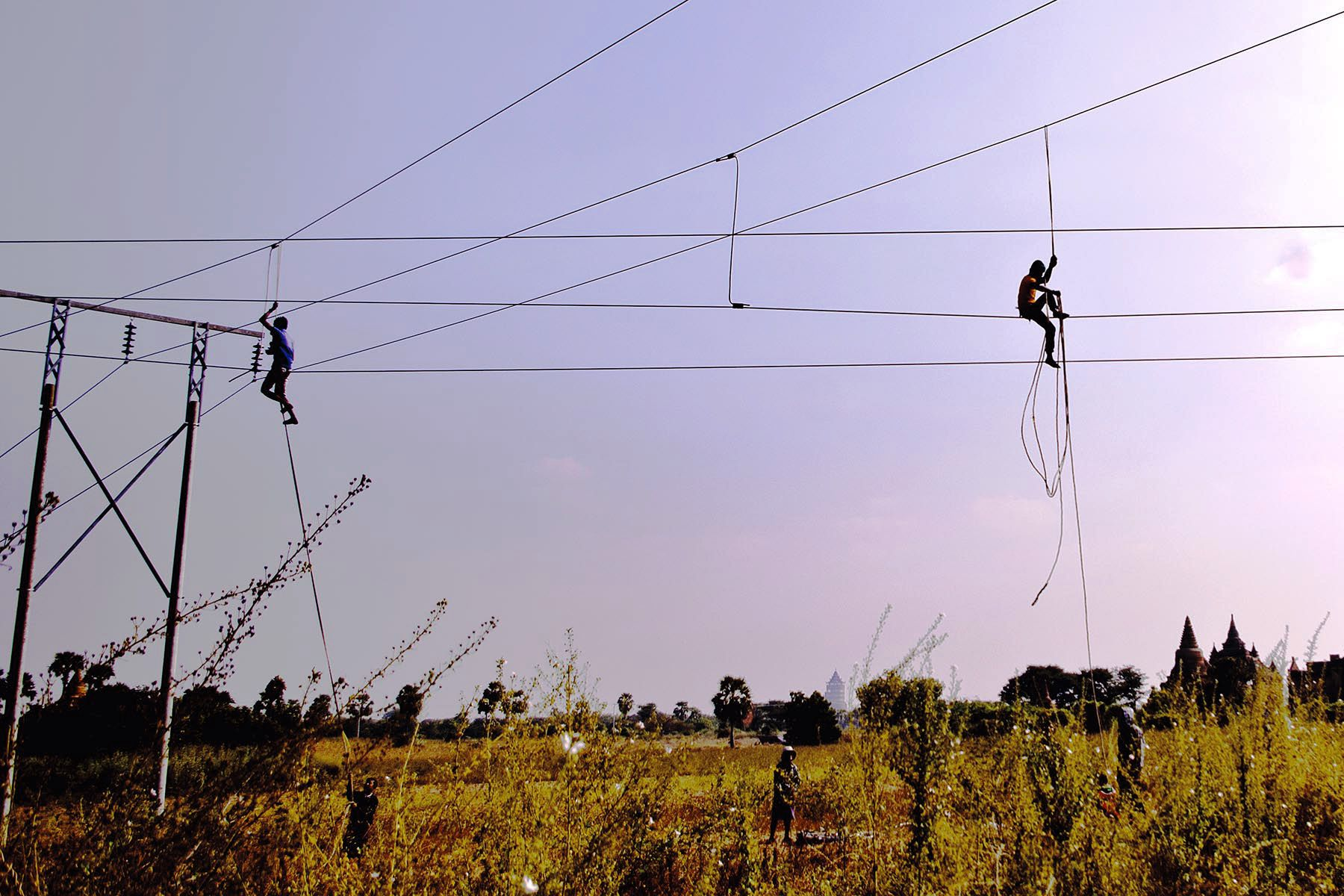 Highwire Act on Powerlines