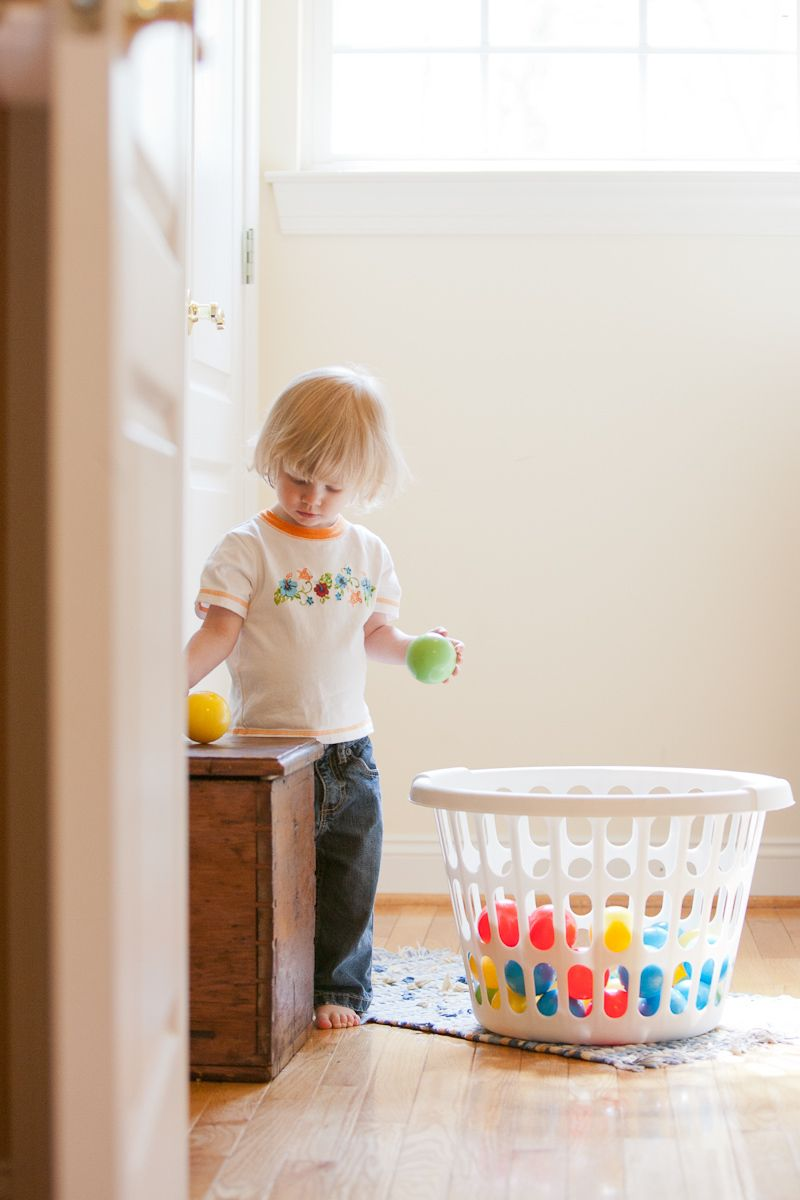 Toddler in Laundryroom