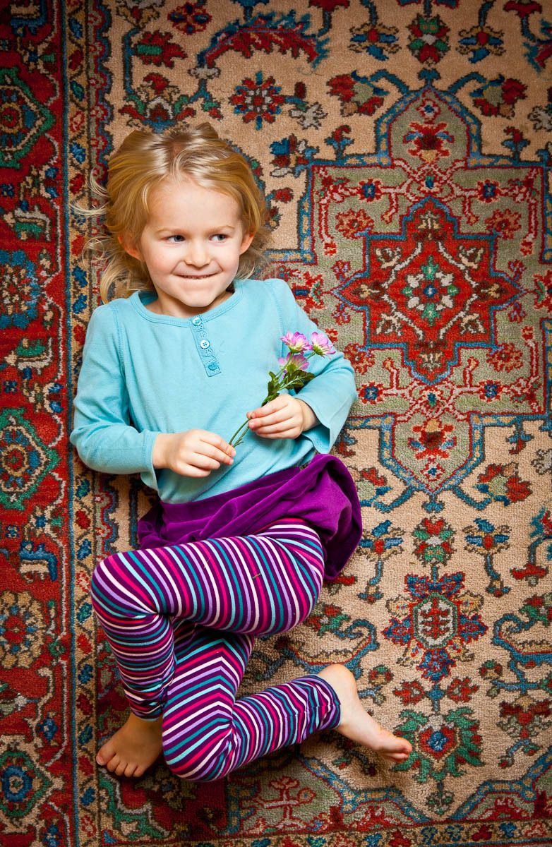 Little Girl in Tights