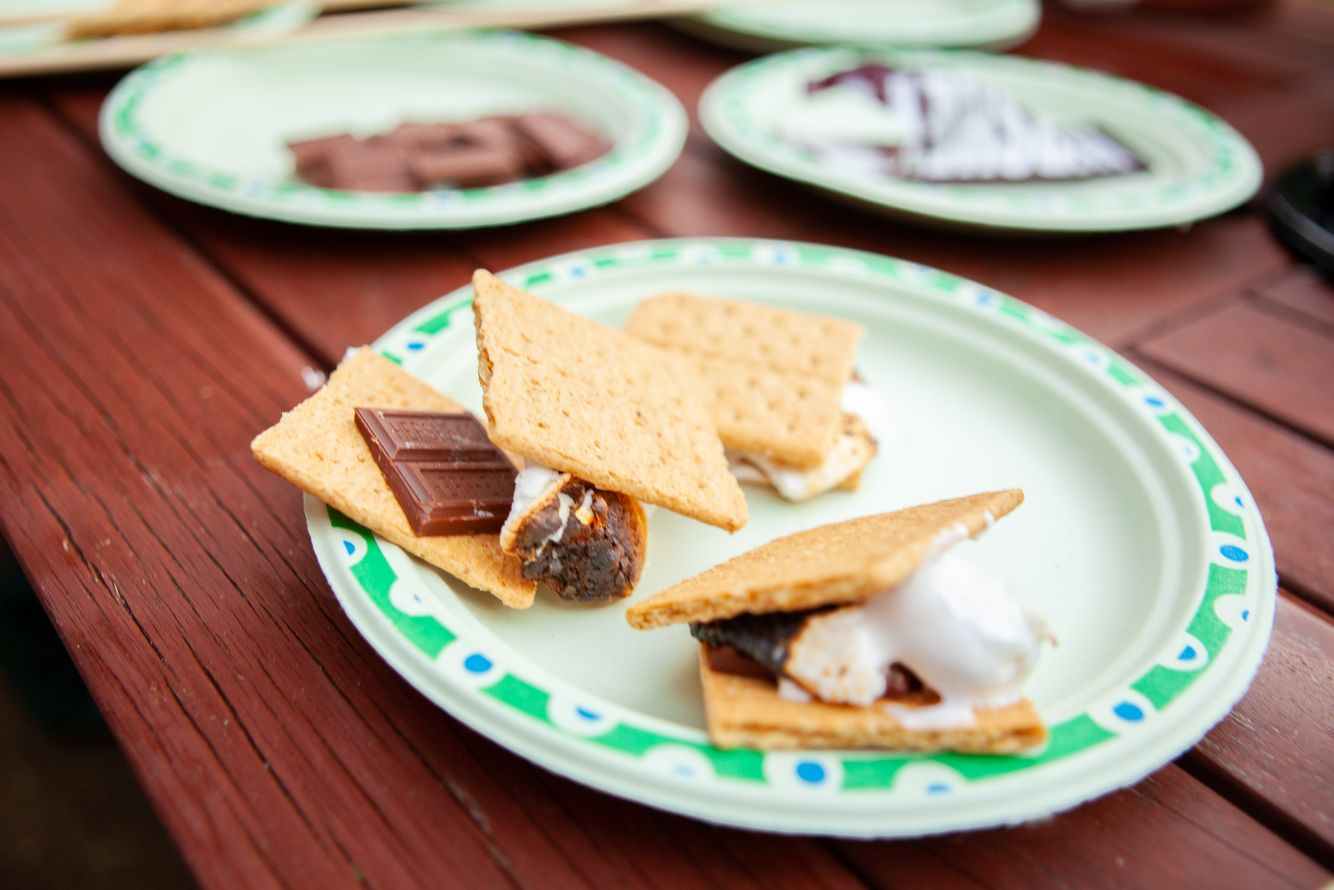 Smores on plates