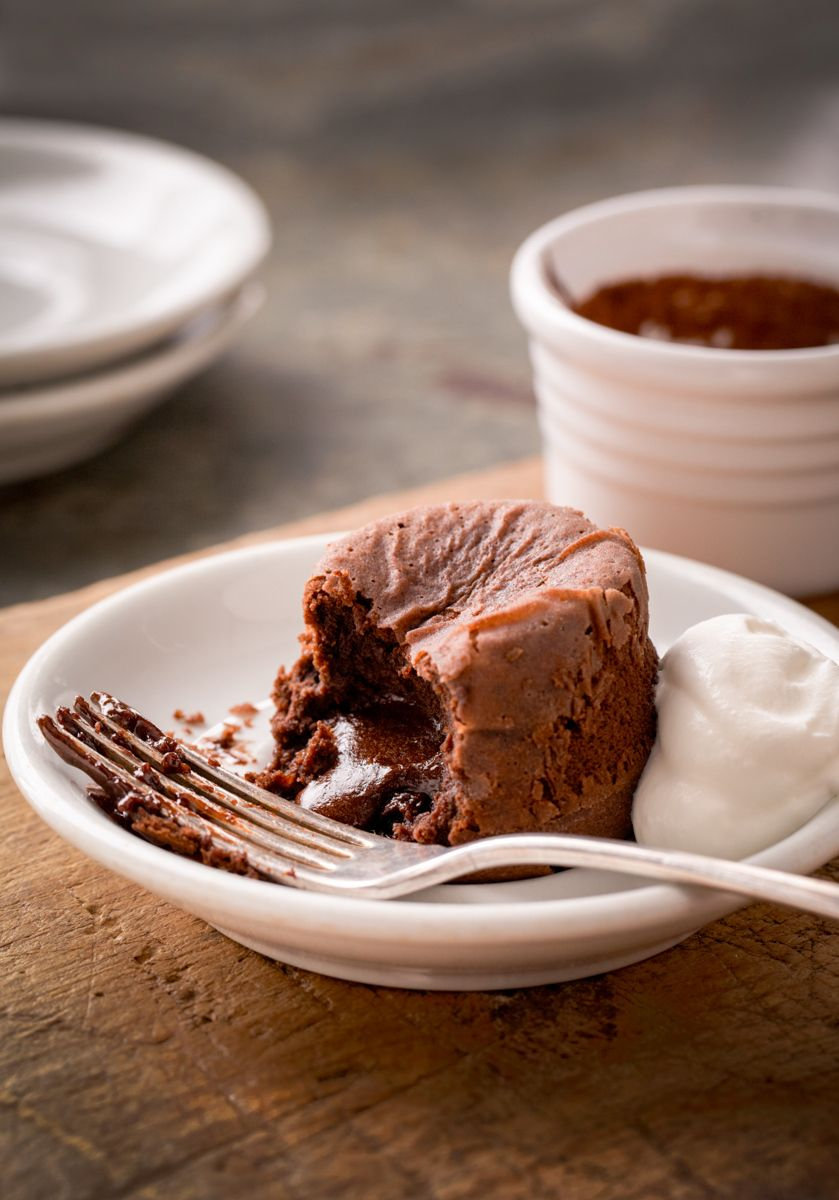 "Chocolate molten cake with coffee and creme fraiche New York Times Mark Bittman's app. ""How to Cook Everything""www.rkjacobs.comwww.rkjacobs.comTop Food Photographer New York Seattle PortlandRobert Jacobs Photography ©2013"