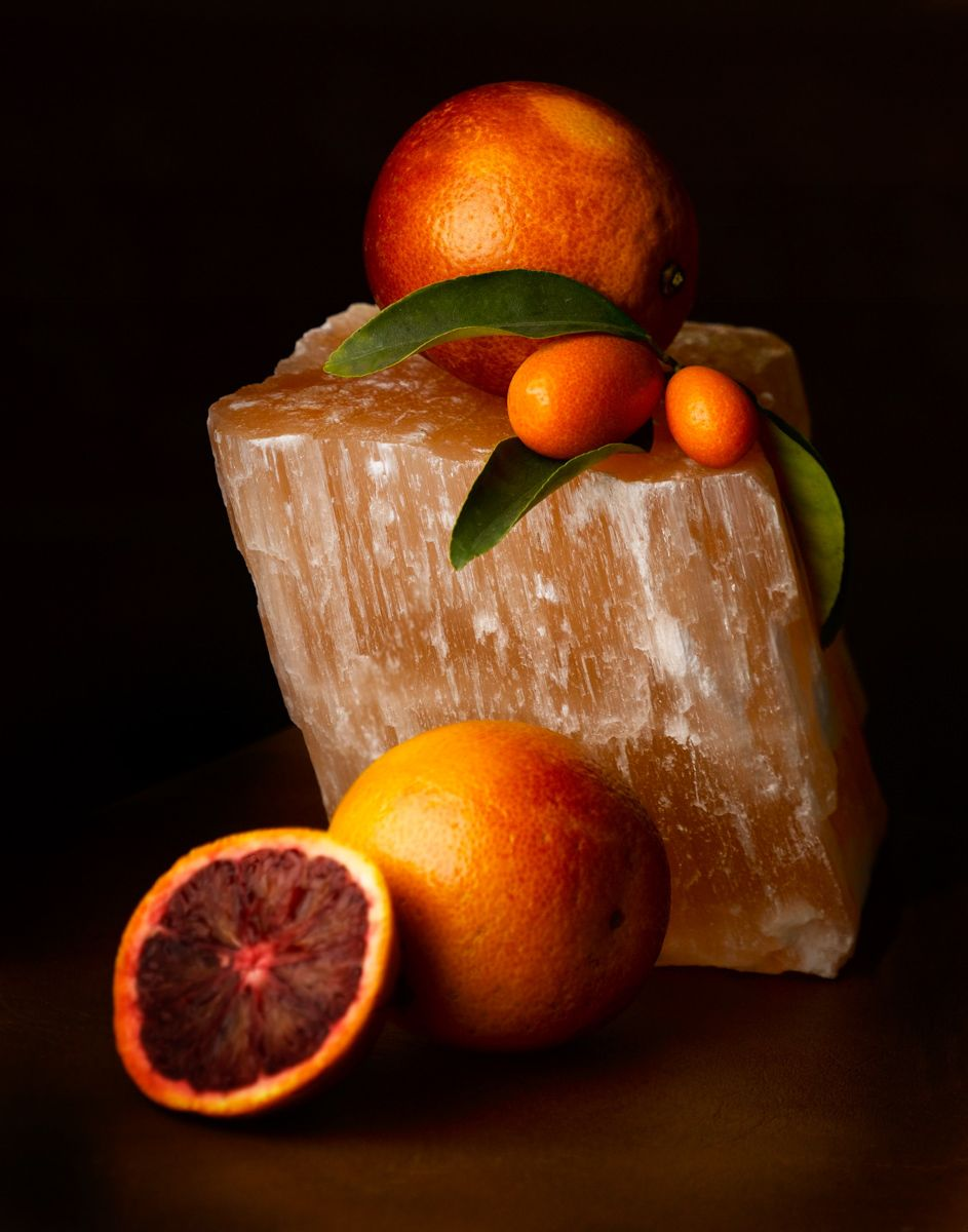 Piece of quartz with blood oranges & kumquats www.rkjacobs.comTop Food Photographer New York Seattle PortlandRobert Jacobs Photography ©2013