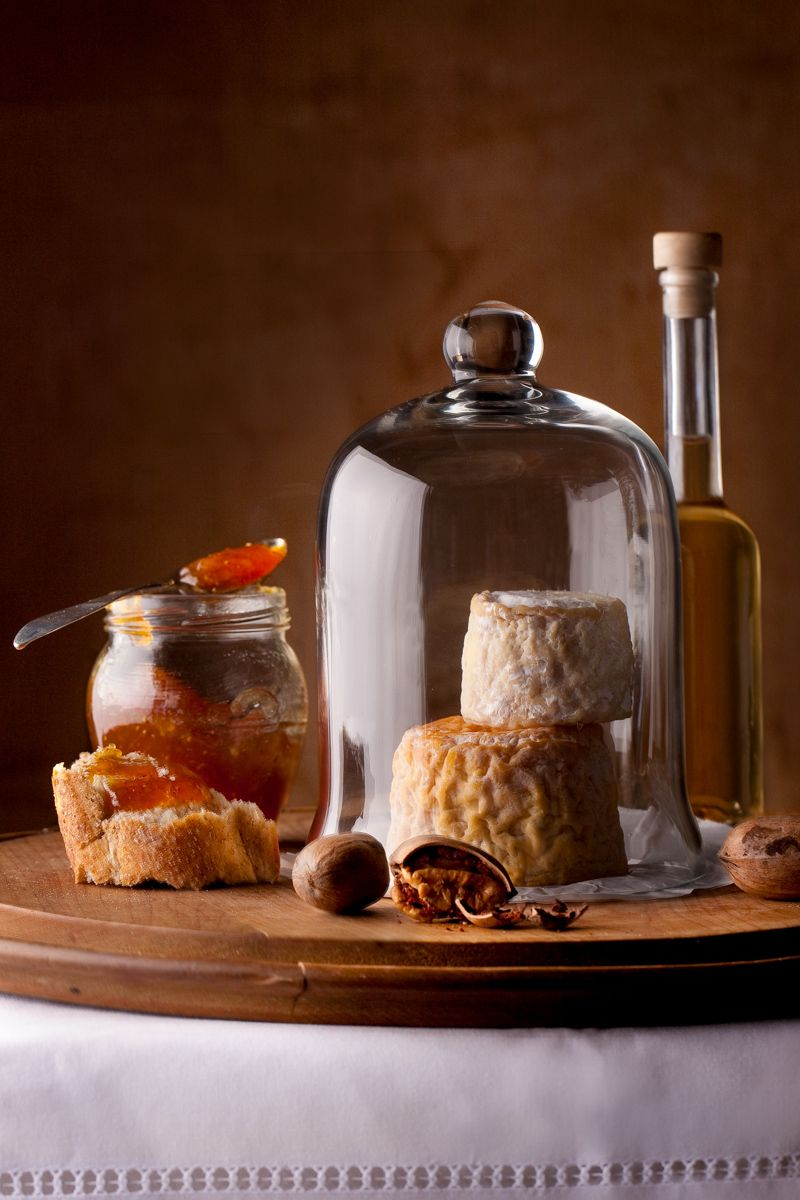 bread,cheese,clos,glass bell,glass cloche,marmalade,nuts,pecans,sherry,wine  vemeer still life   new york seattle food photographer       www.rkjacobs.com Robert Jacobs Photography ©2013