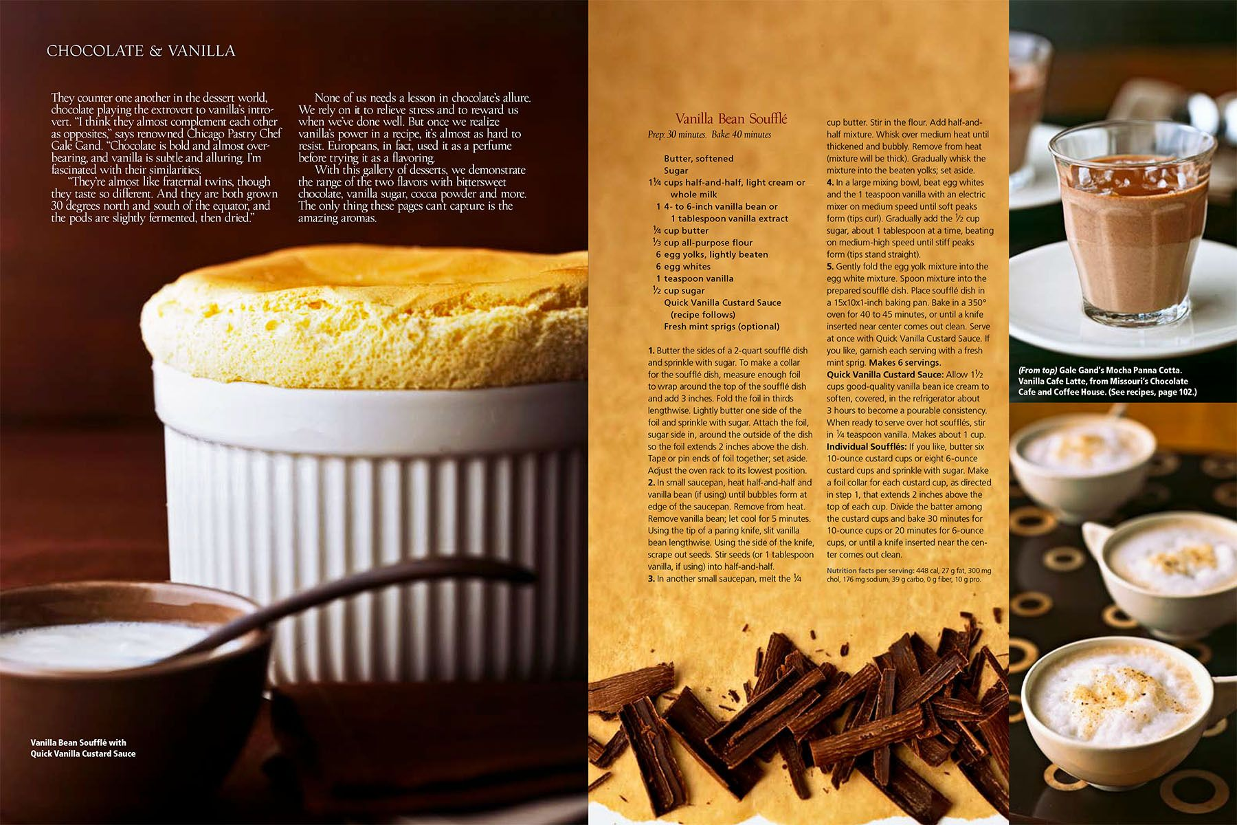 Vanilla souffle, chocolate mousse, hot chocolate cups for  Chocolate & Vanilla story for Midwest Living Magazinewww.rkjacobs.comTop Food Photographer New York Seattle PortlandRobert Jacobs Photography ©2013