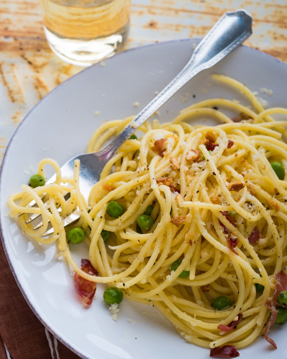 www.rkjacobs.com pasta,peas,proscuitto,spagetti,white wine  top new york seattle food photographer