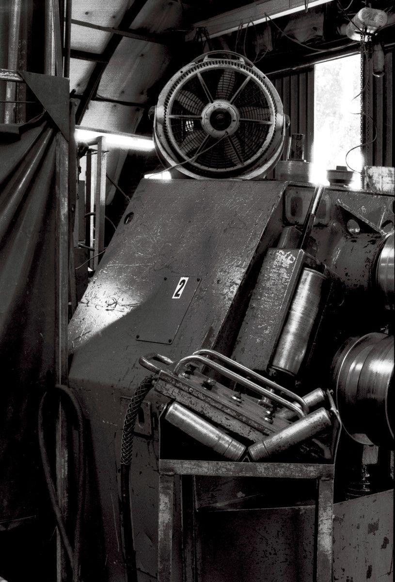 Conveyor Rollers, MMP Metals, San Jose, CA 2011Gelatin-silver photograph, selenium toned