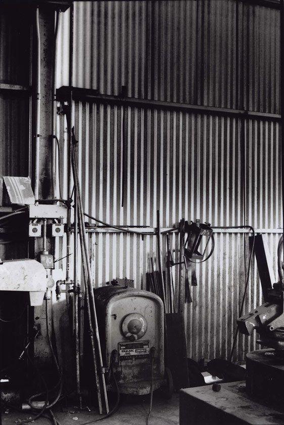 Steel Fabricator #3, S.O.S. Steel Co., Santa Clara, CA 2007Gelatin-silver photograph, selenium-toned