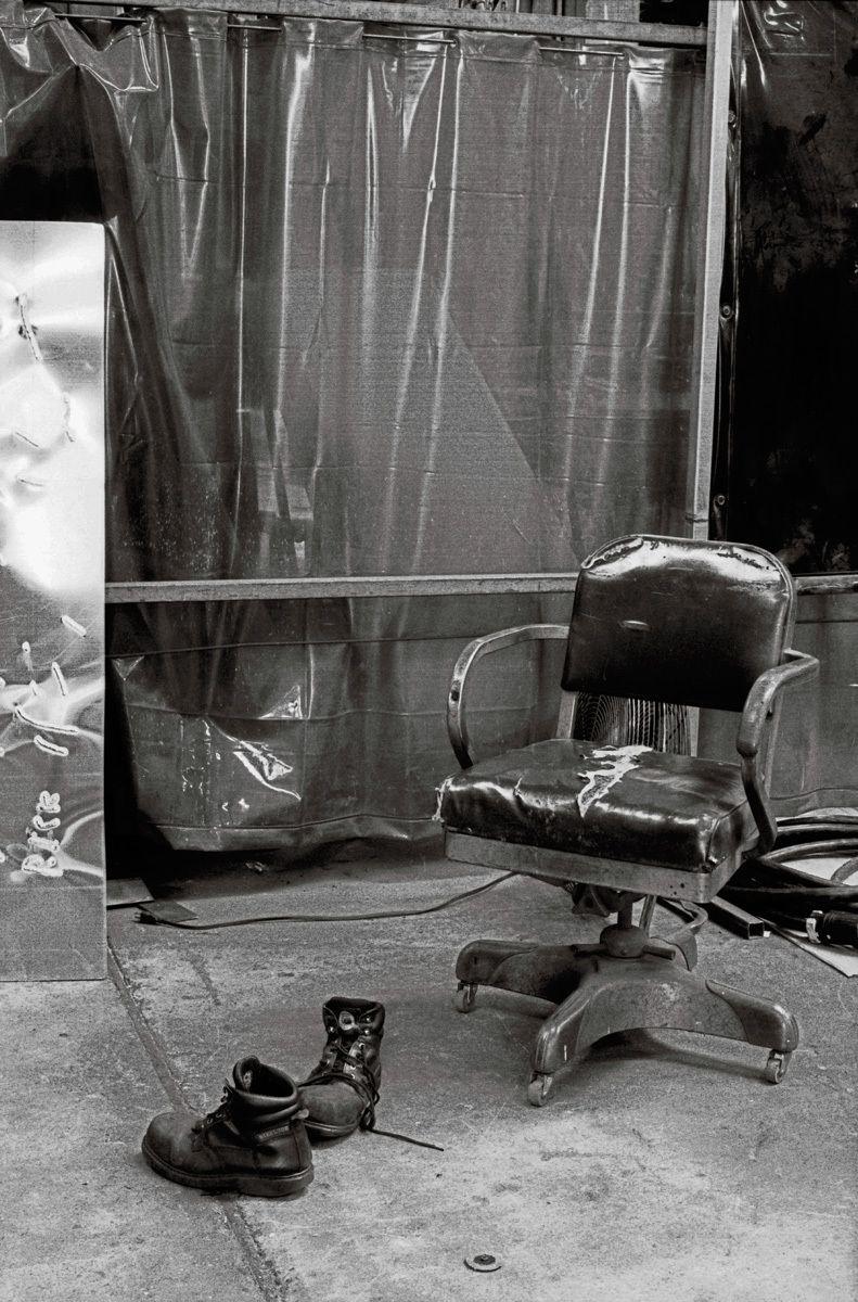 The Welding Curtain, MMP Metals, San Jose, CA 2011Gelatin-silver photograph, selenium toned