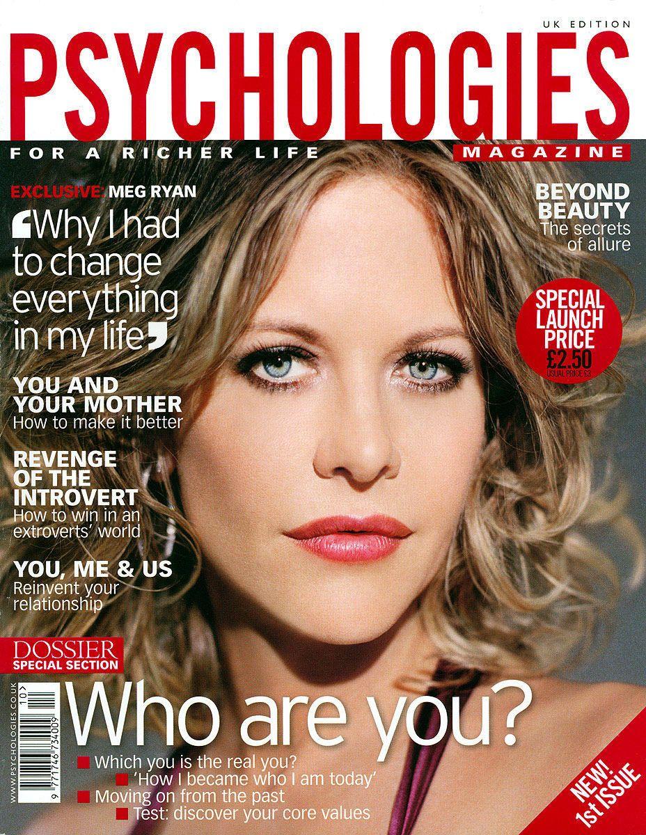 Meg Ryanfor UK Psychologies Magazine