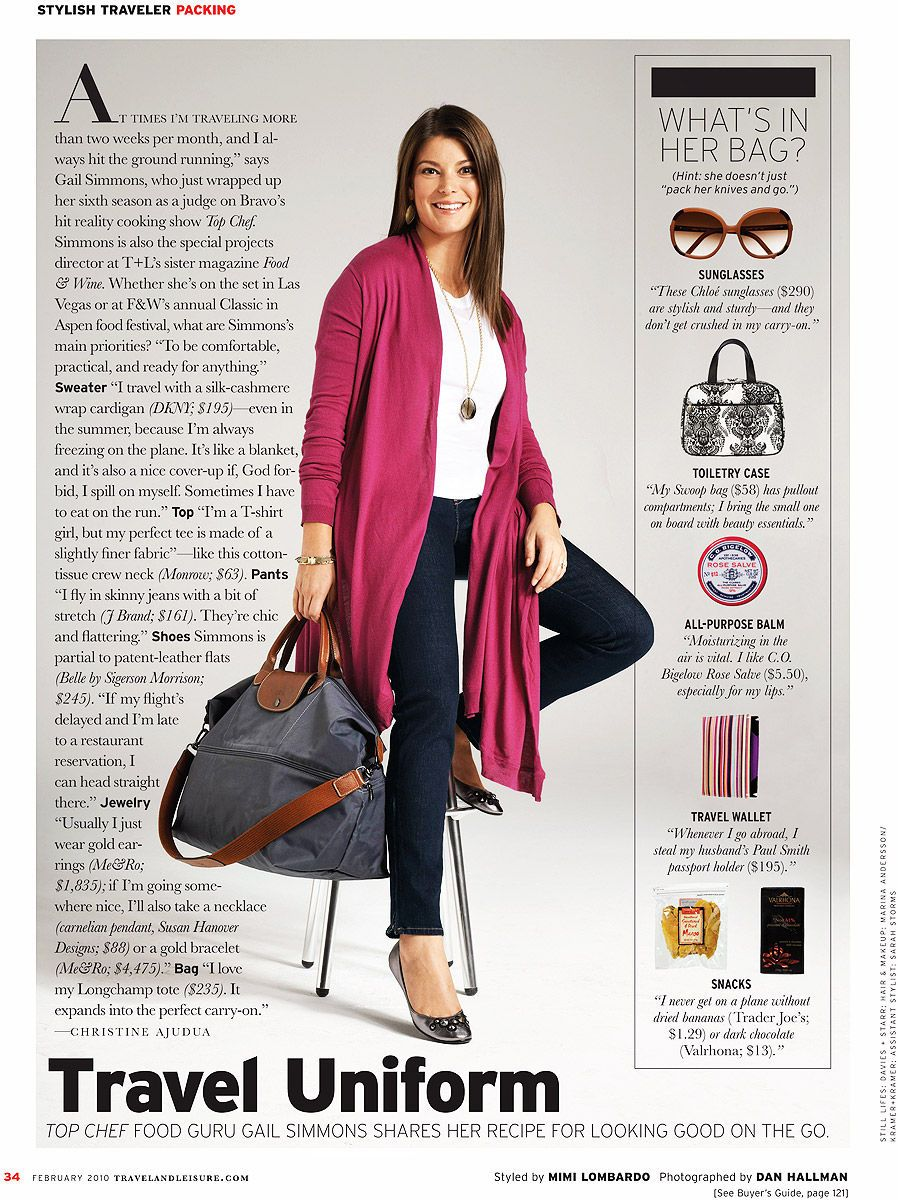 Gail Simmons of Top Cheffor Travel + Leisure
