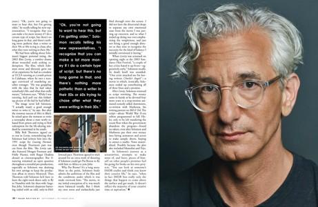 Ed Solomon, Written By Magazine, September October 2018