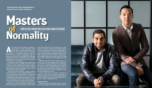 Aziz Ansari and Alan Young, Writters and Comedians