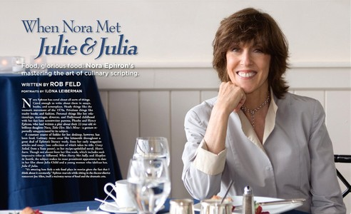 "Nora Ephron, Writer, Director, Producer of ""Julie & Julia"""