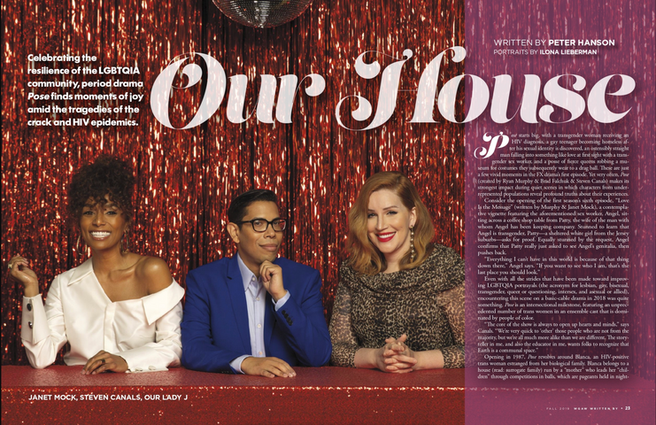 Written By Magazine, Fall 2019, 'Pose'