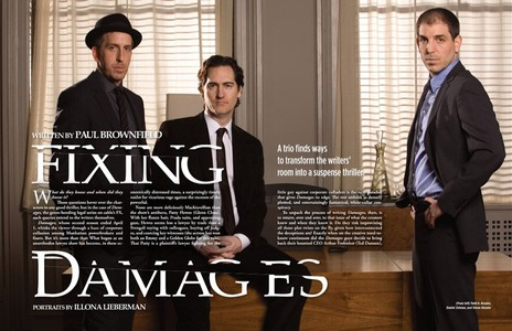 Todd Kessler, Daniel Zelman, Glenn Kessler, Co-Creators & Executive Producers of DAMAGES