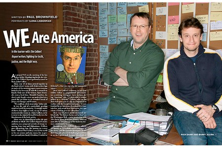 Rich Dahm and Barry Julien, Producers of The Colbert Report