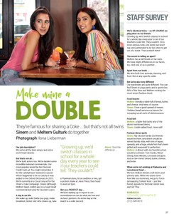 Meltem & Sinem, Twins, W42ST Magazine, August 2018