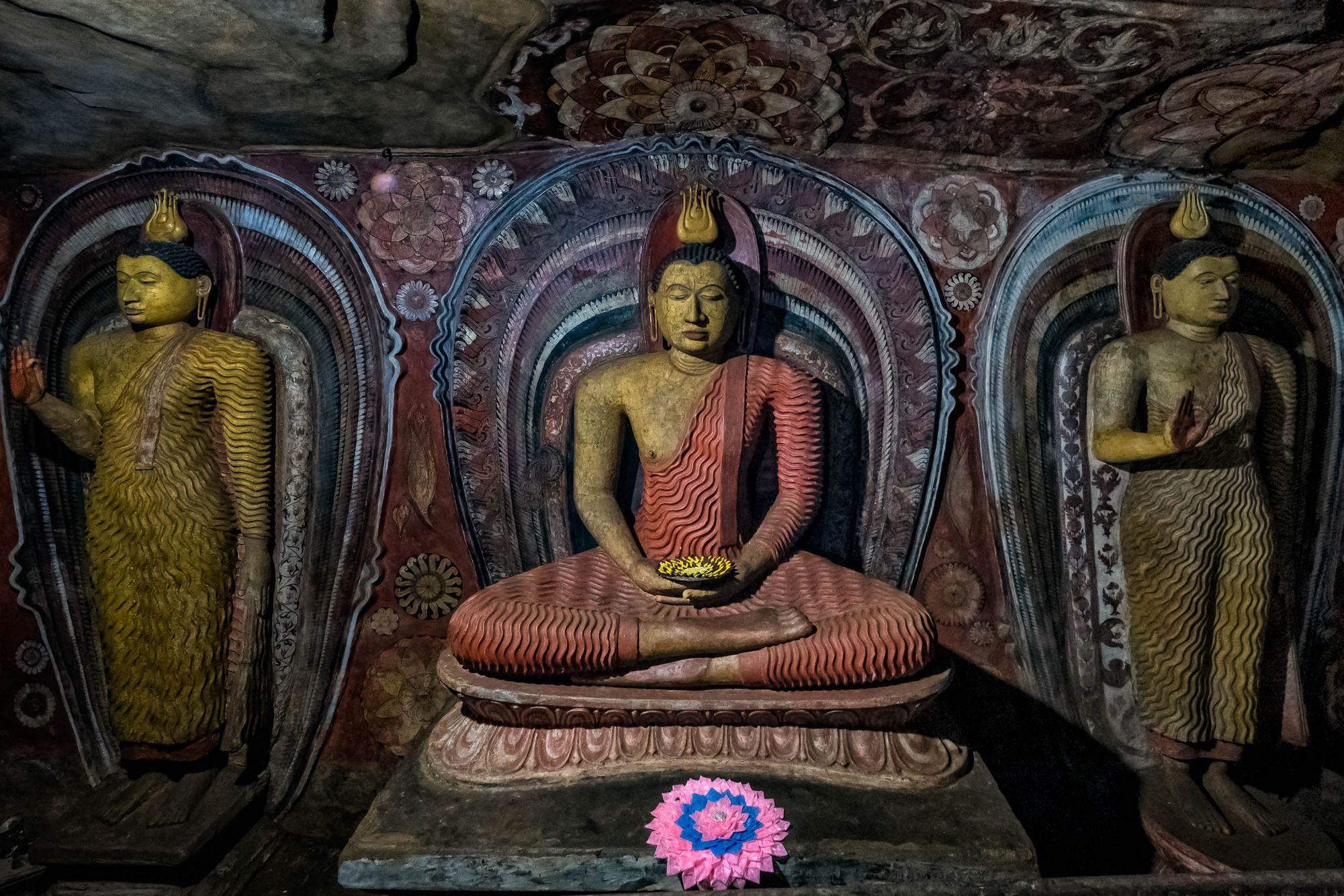 SRI LANKA:  Buddhist Arts in Cave Shrines, Tampitas and Temple Ruins