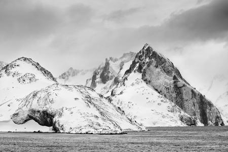 Drygalski Fjord rock formation_B&W II_B8R4164-Drygalski Fjord, Cooper Sound, South Georgia Islands, Southern ocean.jpg