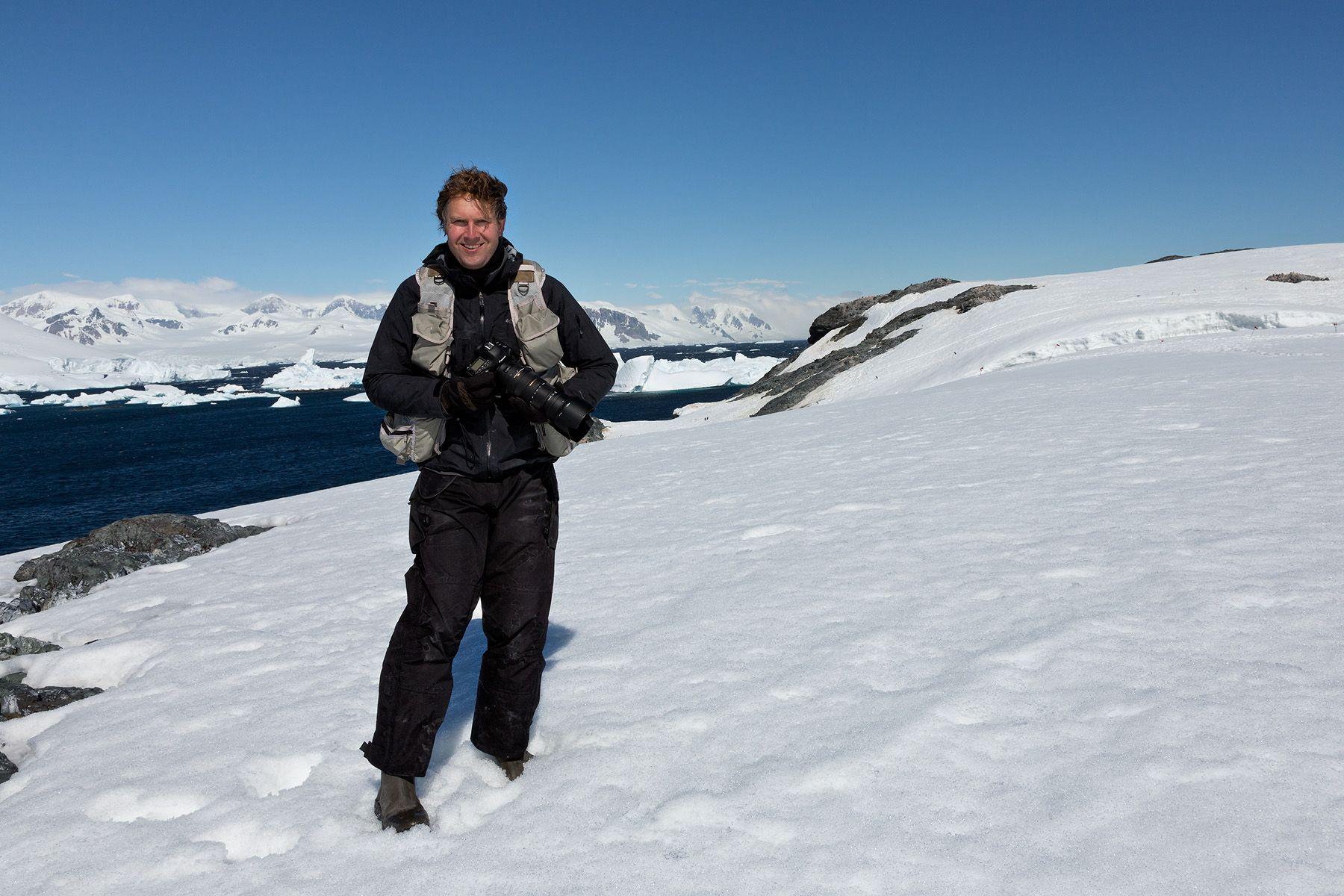 Clemens Vanderwerf at work in Antarctica_S6A8834-Detaille lsland, Antarctica.jpg
