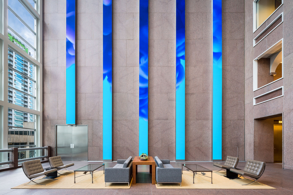 Wells Fargo Lobby LED Panels