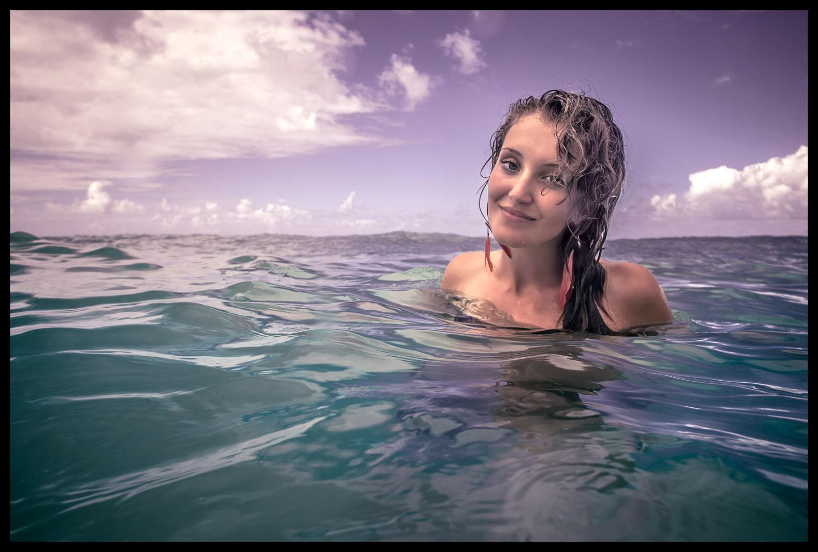 Ellen.  New Zealand polo player and beach girl