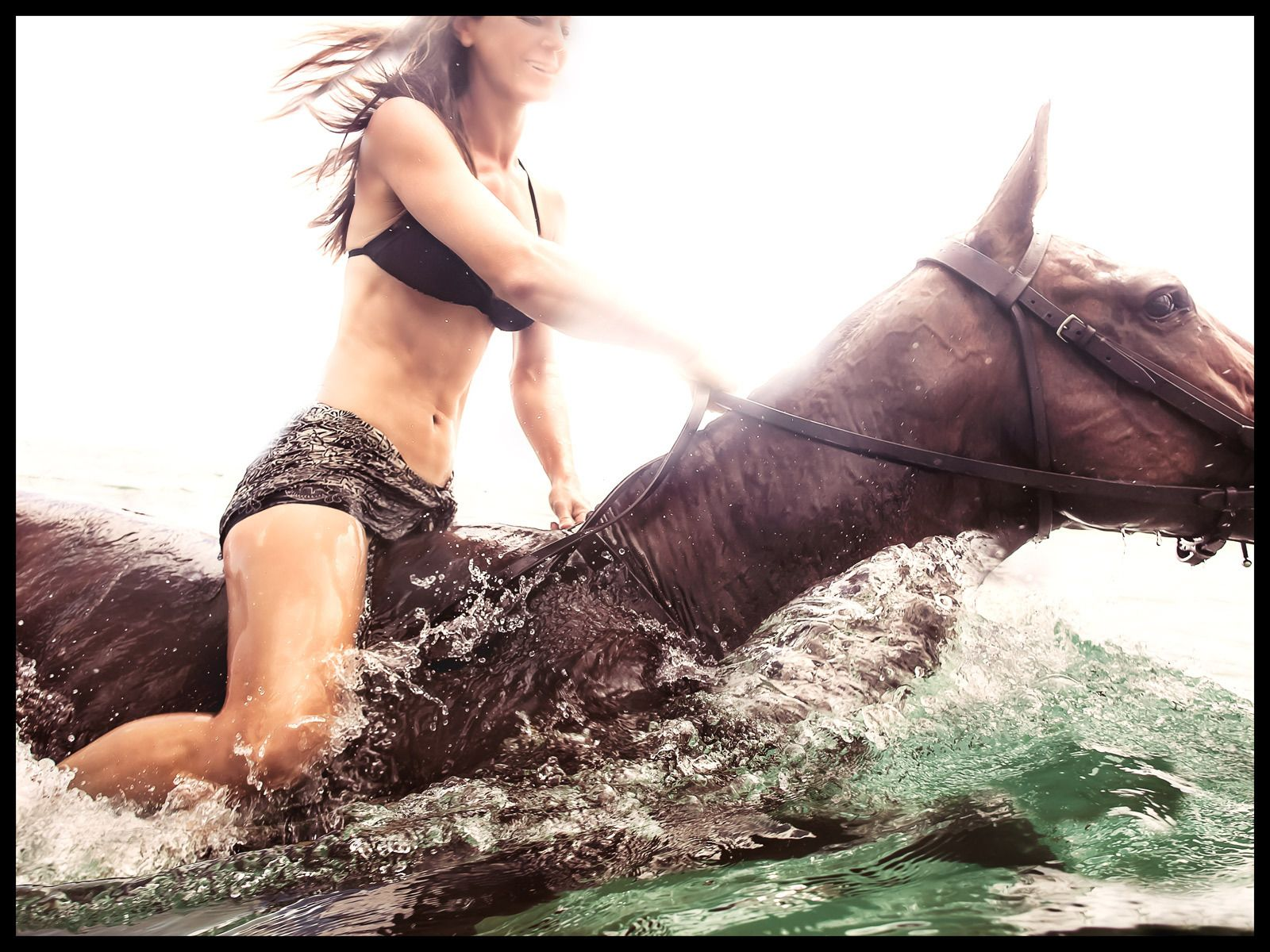 Girl Horse Water