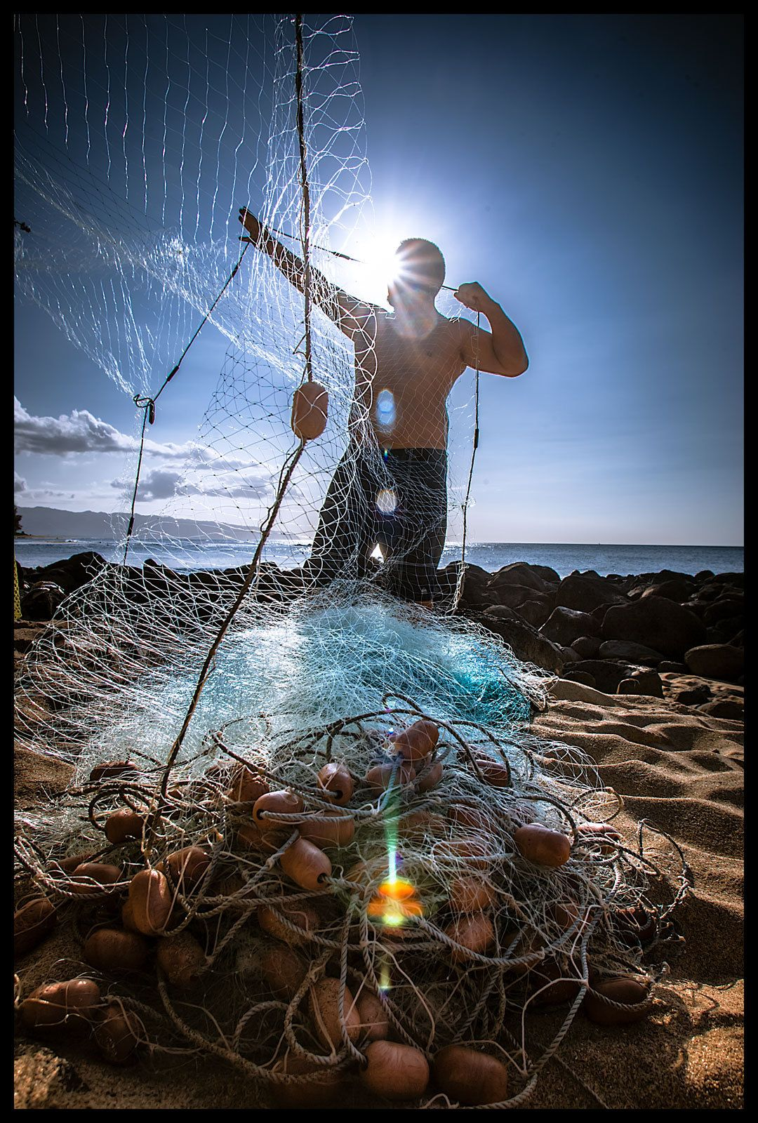 Northshore Oahu fisherman