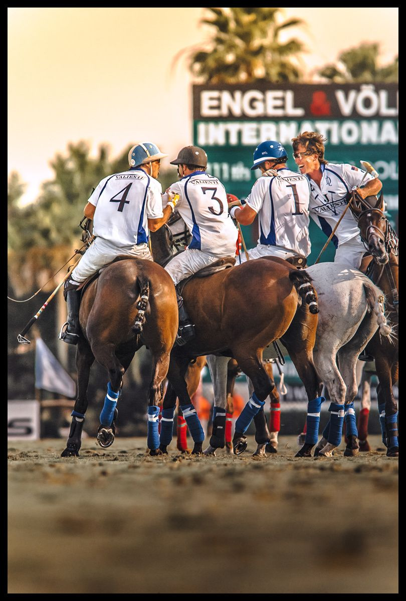 Team Valiente Polo congratulates and celebrates victory of 2015 U.S. Open